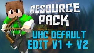 Minecraft TossedEm Resource Pack - UHC Default Edit V1 + V2