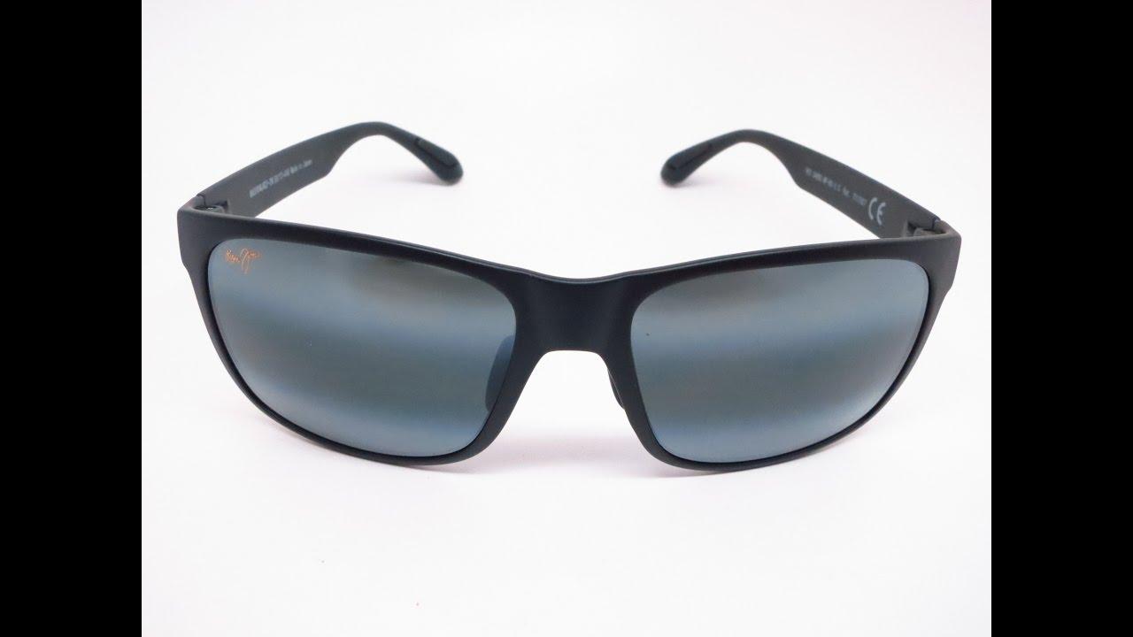 808fe8f4fcb3b Maui Jim Red Sands MJ 432-2M Sunglasses Unboxing - YouTube