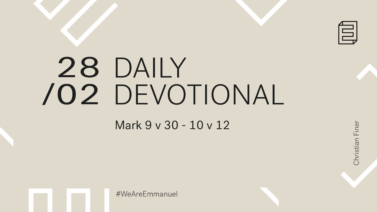 Daily Devotion with Christian Finer // Mark 9:30-10:12 Cover Image