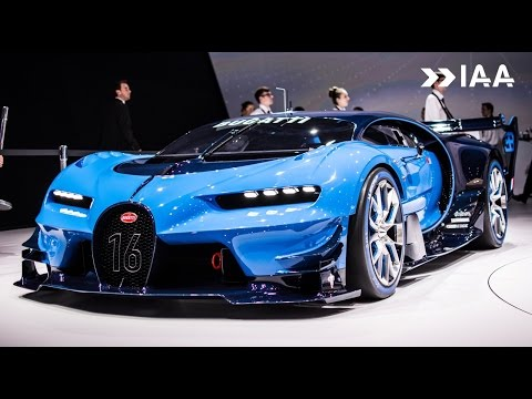 bugatti vision  real car gt HUGE Exhaust Sounds 2017