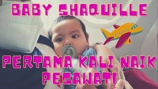 RogerChika - Pertama Kali Baby Shaquille Naik Pesawat