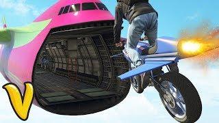 GTA V STUNTS & FAILS! :: GTA V GUN RUNNING Oppressor Flying Bike & Mobile Operations Center