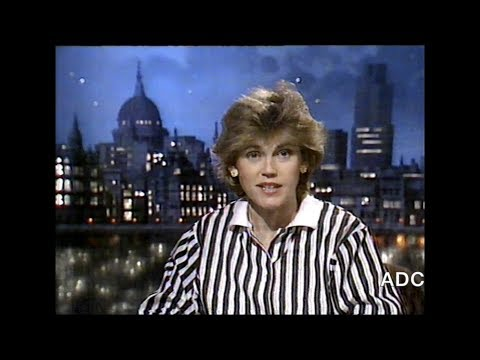 Thames Victoria Crawford in vision, adverts, clock into ITN World News 20th November 1987 5 of 6