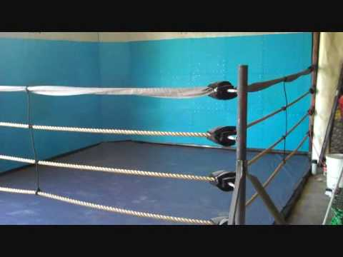 homemade boxing ring
