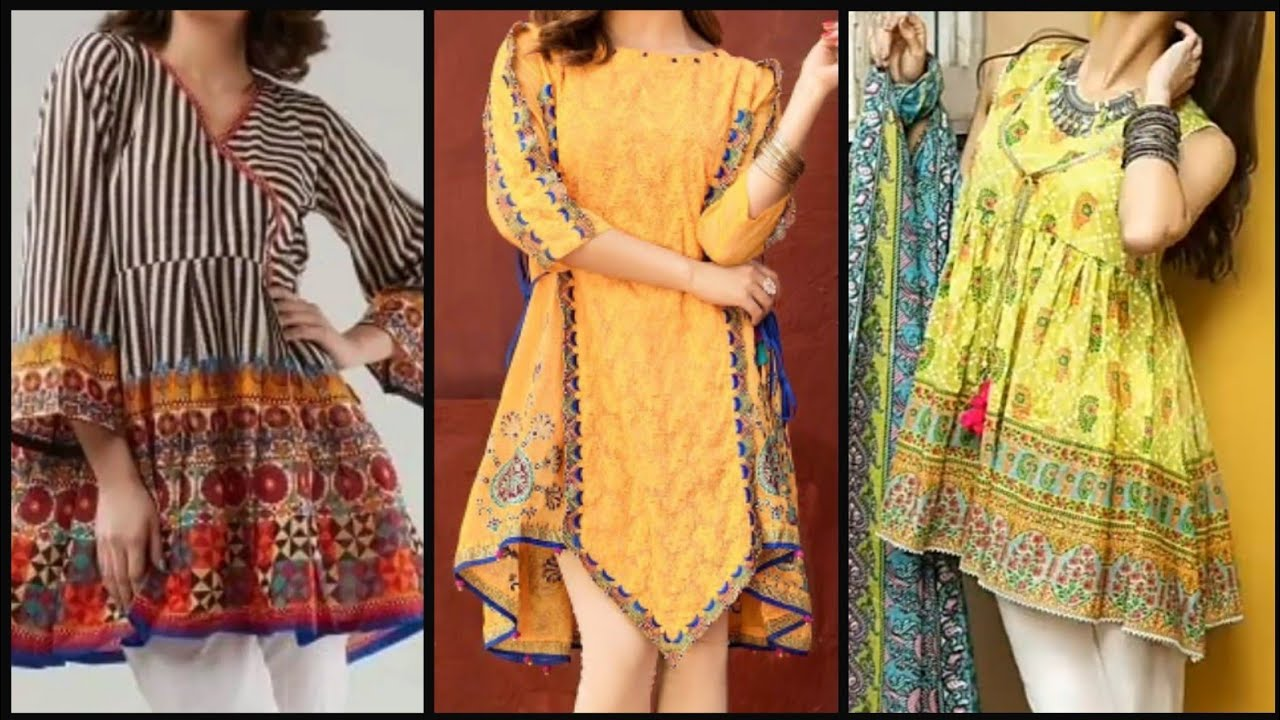 Latest lawn short frock design &  stitching style 2020 ideas | Short frock | Lawn kurti design 2