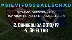 Dynamo Dresden gegen HSV - HSV nimmt 1. Platz der Tabelle ein! | #SieviFußballSchau