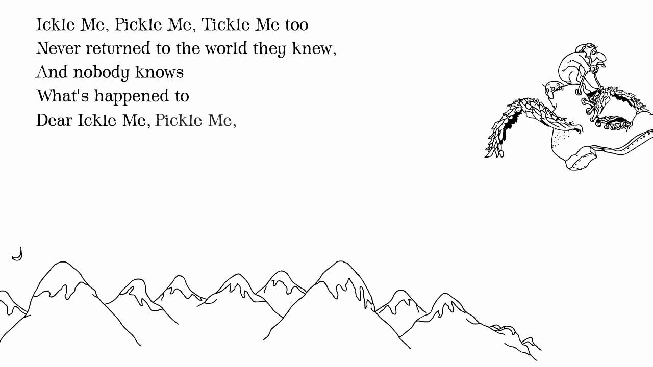 Shel Silverstein Famous Poems: Shel Silverstein: 'Ickle Me, Pickle Me, Tickle Me Too