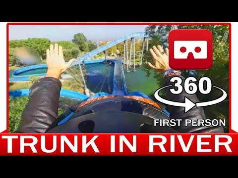 360° VR VIDEO - ROLLERCOASTER - TRUNK IN RIVER - NATURE - VIRTUAL REALITY 3D