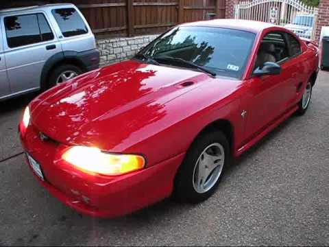MY NEW TOY! 1998 Ford Mustang V6 5-speed Start Up, Exterior/ Interior Review