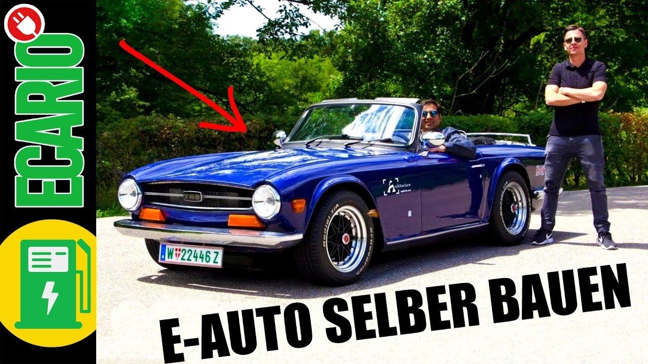 e-auto cabrio - bau es dir selbst! ? triumph tr6 roadster umbau