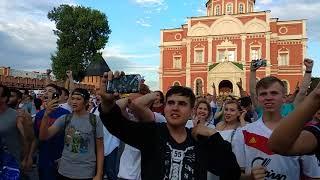 ЧМ2018 фан-зона тульский Кремль Россия - Испания послематчевые пенальти