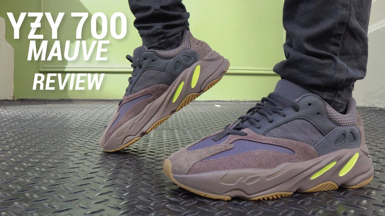 8828528473818 Adidas Yeezy Boost 700 Mauve Review   On Feet - YouTube