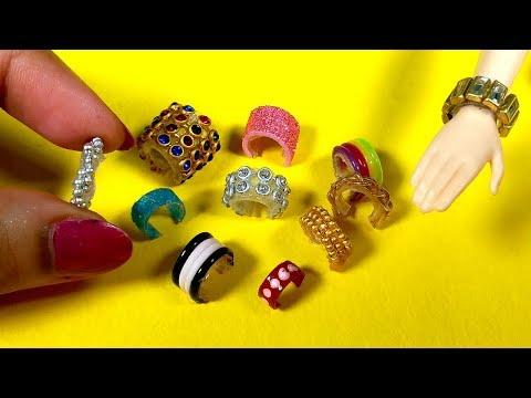11 Cute Barbie Bracelets / Jewellery | DIY Miniature Barbie Hacks and Crafts!