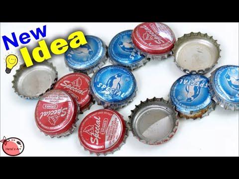 Bottle Caps Craft Idea    DIY Best Out of Waste Idea    Home Decor Flower Making    Handmade Craft
