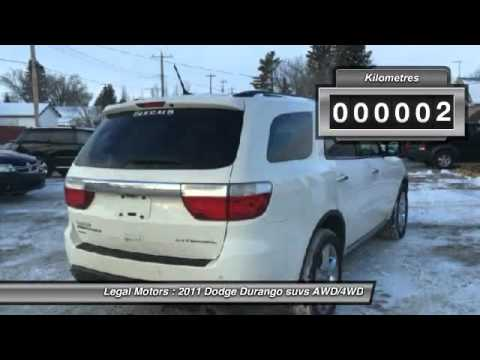 2011 Dodge Durango Legal Alberta FTR319A