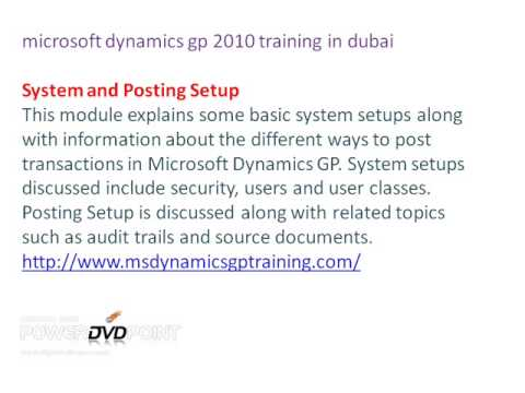 microsoft dynamics gp training in dubai & Support