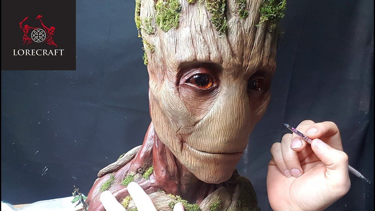 Sculpting Groot - Guardians of the Galaxy, Infinity War - Timelapse sculpt and airbrush