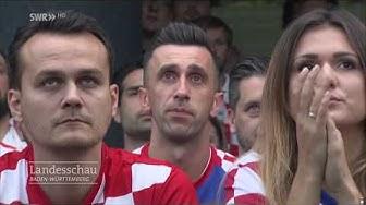 Kroaten feiern Einzug ins WM-Finale I Landesschau Baden-Württemberg