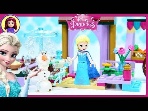 Lego Frozen Elsa's Market Adventure Disney Princess Build Review Silly Play Kids Toys