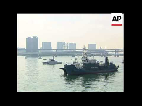 Arrival of whaling vessel with Sea Shepherd activist on board