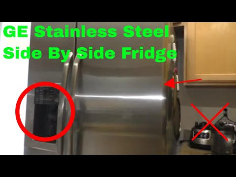 ✅  How To Use GE Stainless Steel Side By Side Fridge Review
