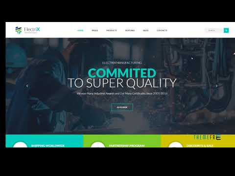 ElectriX+ - Industrial And Electronic Equipment Manufacturing HTML Te