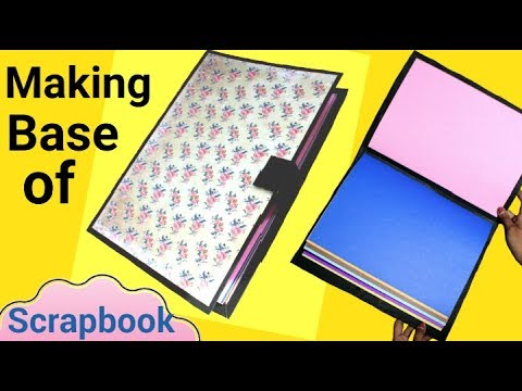 How to make a Base of a Scrapbook | Step by step Tutorial | Friendship day Scrapbook |