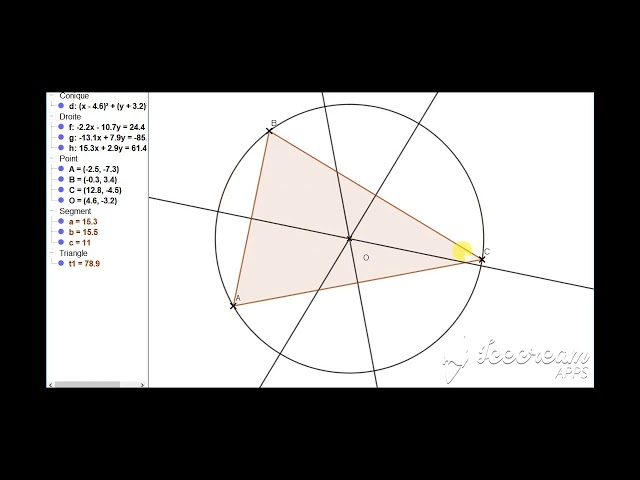 Médiatrice d'un triangle et cercle circonscrit au triangle