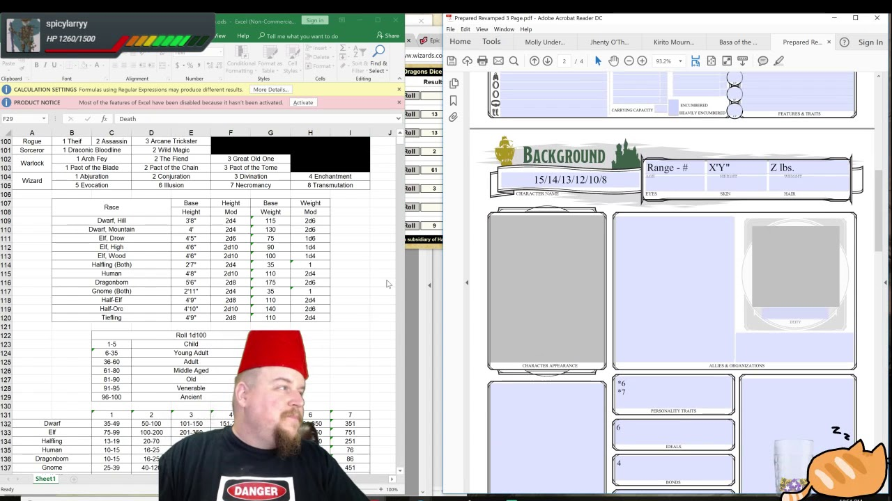 D&D 5E Character Creation: Tiefling Cleric (Death) 13 - Moira