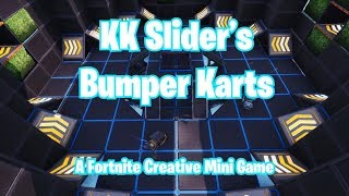 KK Slider's Bumper Karts Official Trailer. Un jeu Fortnite Creative Mini. (Code dans la description)