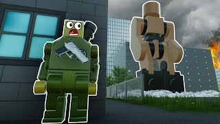 LEGO ROBOT MONSTER UNLEASHED IN LEGO CITY! - Brick Rigs Gameplay Roleplay - Lego Movie Survival