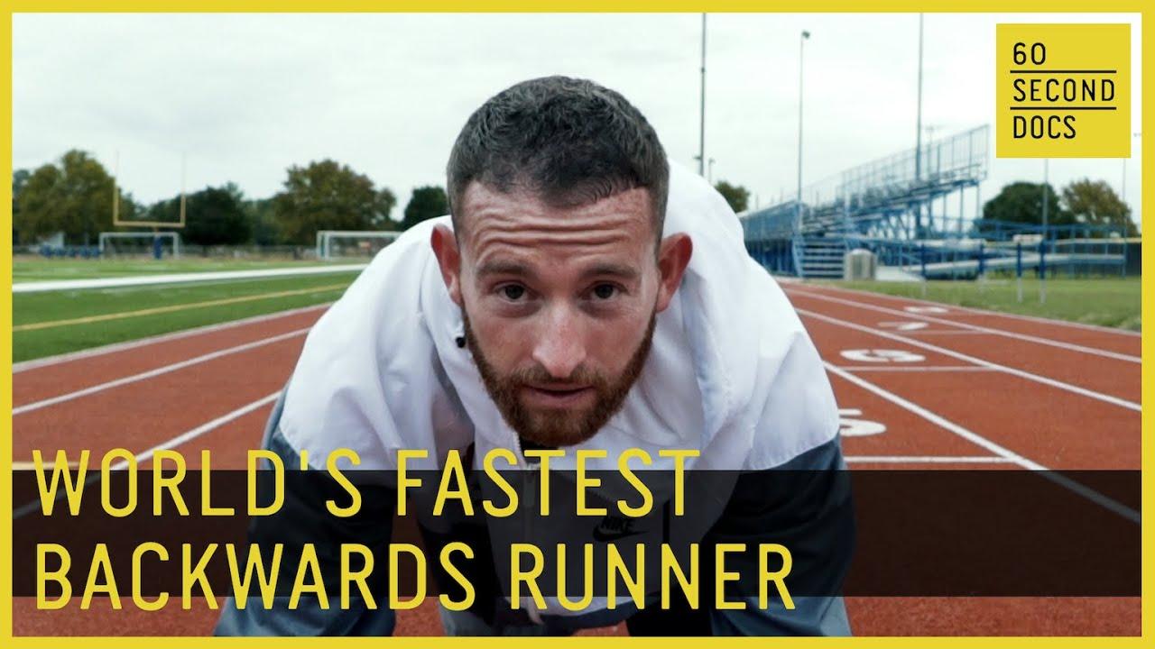 World's Fastest Backwards Runner Aaron Yoder