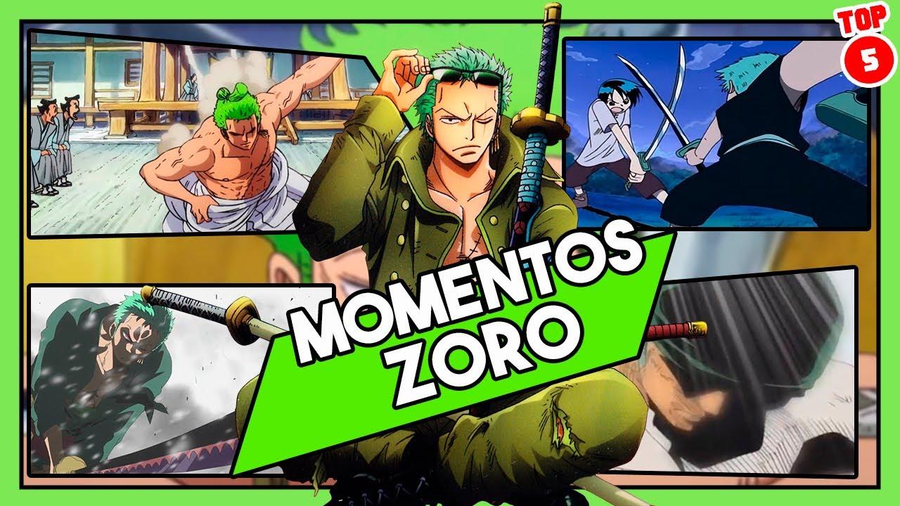 Top 5: LOS MEJORES MOMENTOS DE ZORO RORONOA | One Piece | Cine Globo