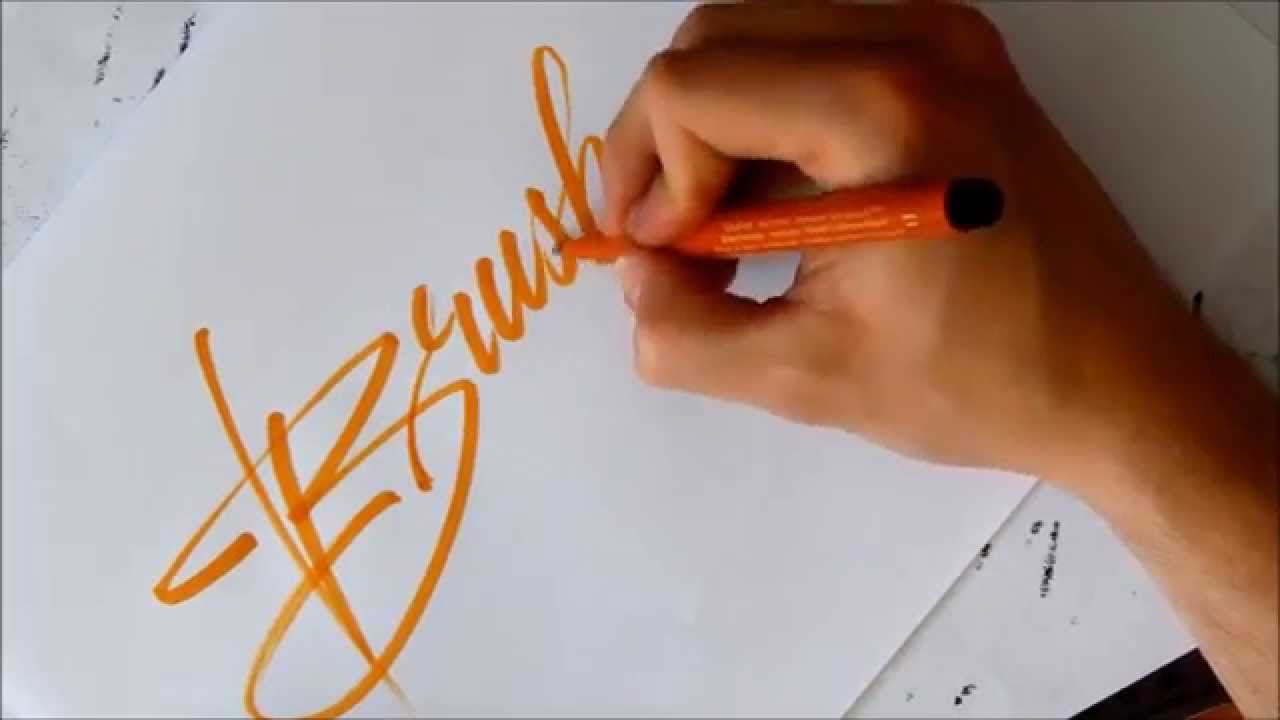Theosone Brush Pen Calligraphy Youtube