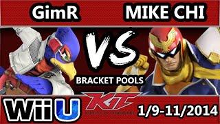 KiT 15 - VGBC | GimR (Falco) Vs. Mike Chi (Captain Falcon) SSB4 Bracket Pools - Smash 4 Wii U