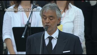 Andrea Bocelli sings the