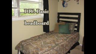 Diy: Basic Head Board
