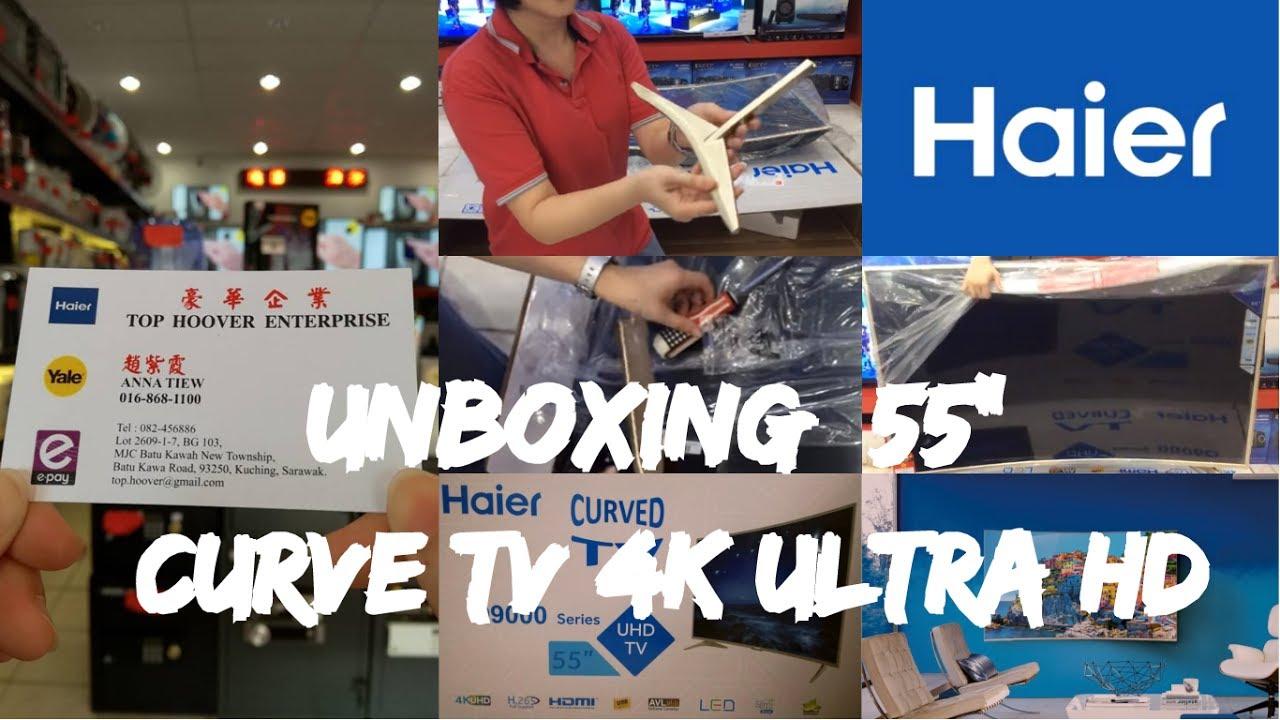 haier 65 4k ultra hd tv. (unboxing \u0026 demo) haier 55\u201c curve tv 4k ultra hd 65 4k hd tv