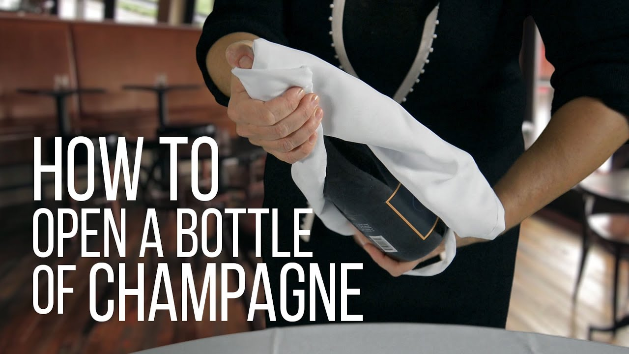 Image result for how to open a champagne bottle