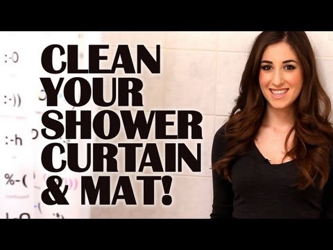 How To Clean Your Shower Curtain & Mat: Easy