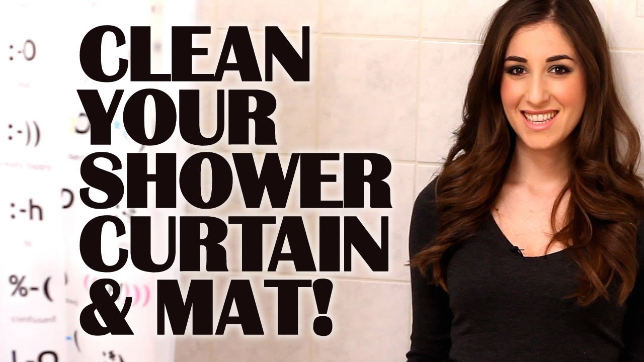 how to wash a clear plastic shower curtain How to Clean Your Shower Curtain & Mat: Easy Bathroom Cleaning  how to wash a clear plastic shower curtain