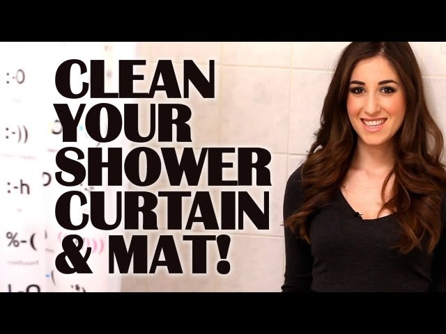Curtains Ideas cleaning shower curtain : How To Clean A Plastic Shower Curtain & Mat | Clean My Space