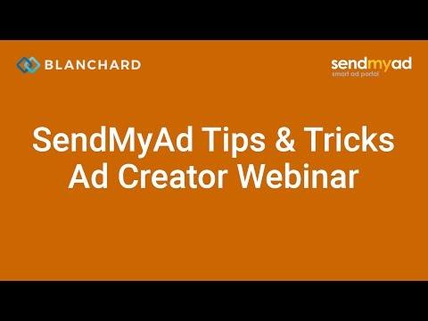 SendMyAd Tips & Tricks Webinar — Ad Creator