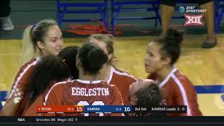 Texas vs Kansas Volleyball Highlights