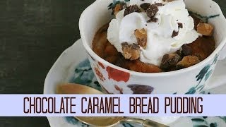 Chocolate Caramel Bread Pudding: The Glamorous Housewife Cooks