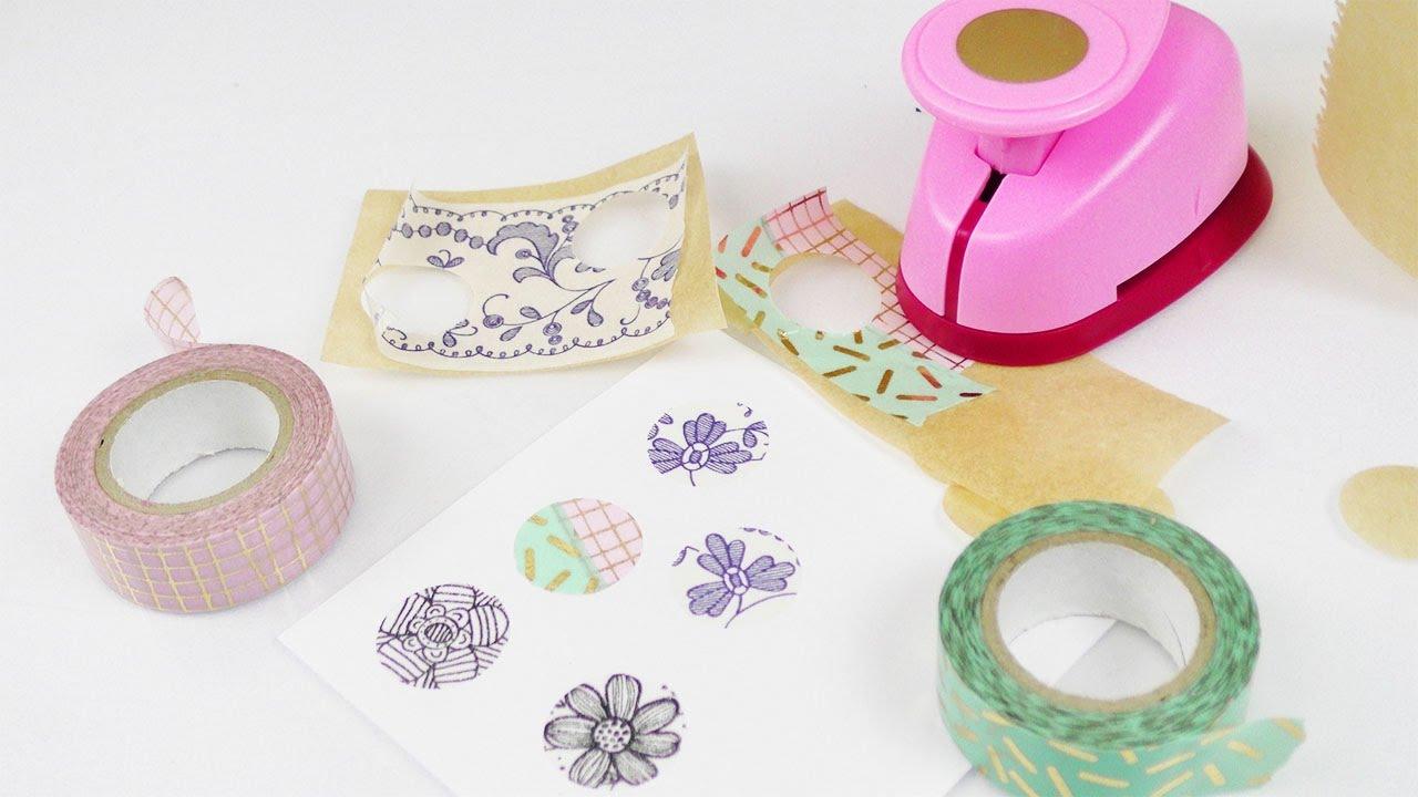 washitape sticker selber machen einfache schnelle deko idee basteln mit kindern fun. Black Bedroom Furniture Sets. Home Design Ideas