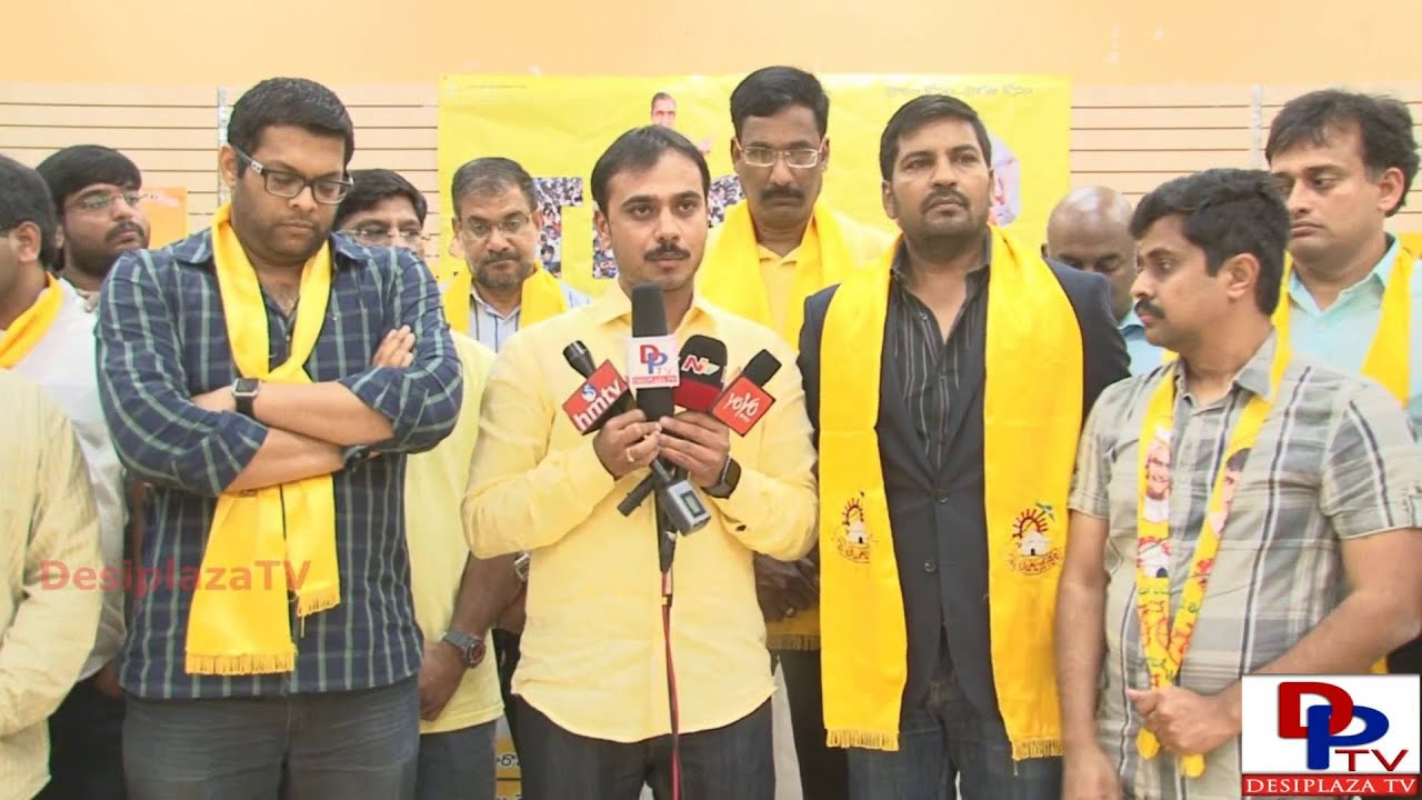 Lokesh Naidu giving Media Bytes at NTR Jayanthi & Mini Mahanadu