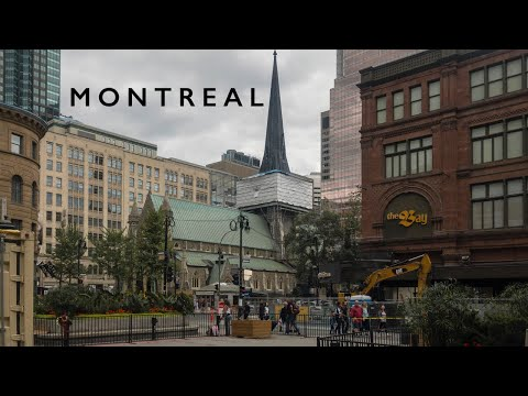 Downtown And Saint Catherine Street, Montreal | Street Vlog Of City Beautiful Montreal, Quebec🔥🔥