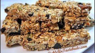 Fruit & Nut Chewy No Bake Granola Bars | By Gayathri Daggubati