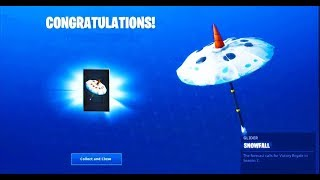 NEW SNOWFALL UMBRELLA IN FORTNITE BATTLE ROYALE!!!
